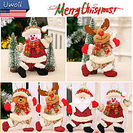 4 kinds of hanging Christmas decoration doll
